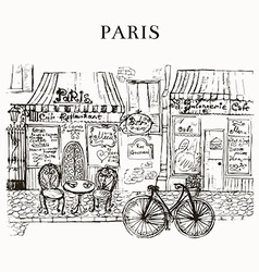 Paris cafe vector