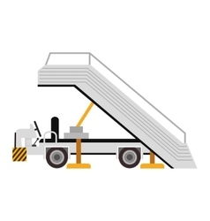 plane ladder cart vector image