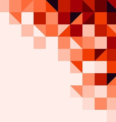 Red tiled background vector image vector image
