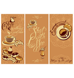 set of template flayer or menu design for vector image vector image