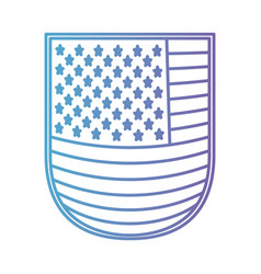 Shield with flag united states of america in color vector