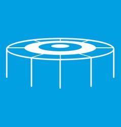 Trampoline icon white vector