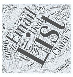 Understanding list fatigue and list churn word vector