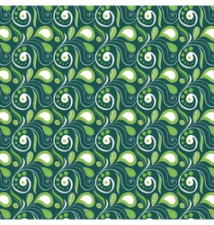 Vintage swirl seamless pattern vector image