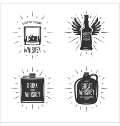 Whiskey related typography set Quotes vector image vector image