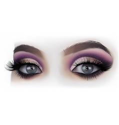 Woman eyes fashion makeup vector