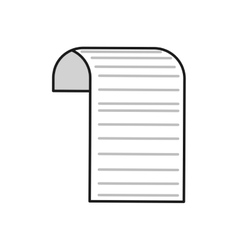 Document piece paper white icon vector