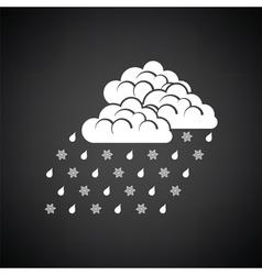 Rain with snow icon vector image