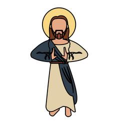 Jesus christ catholic spirituality vector