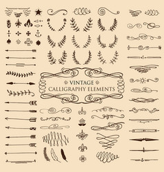 Huge pack or set engraved hand drawn in old or vector