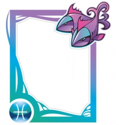 zodiac frame series pisces vector image