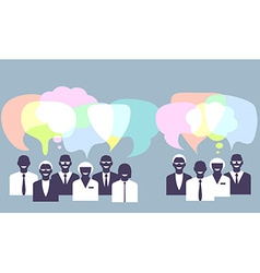 Business people talking concept vector