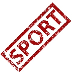 Sport rubber stamp vector