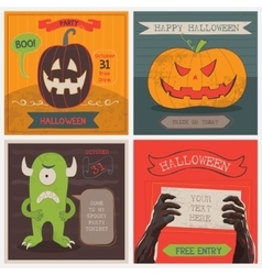 Halloween cards set vector