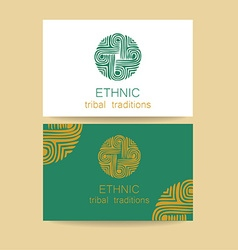 Ethnic traditions logo vector