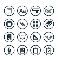 Books icons universal set vector