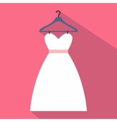 Dress on a hanger flat icon vector