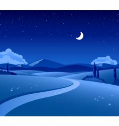 countryside night vector image