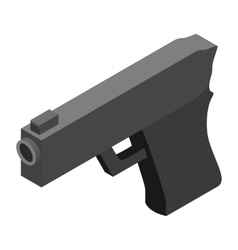 Gun isometric 3d icon vector