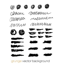 Set of grunge brush strokes collection vector
