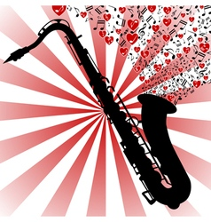 Saxophone-love music vector