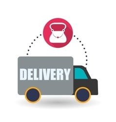 Delivery design shopping icon white background vector