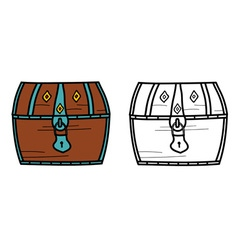 A treasure closed chest vector