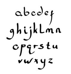Handmade roman alphabet vector