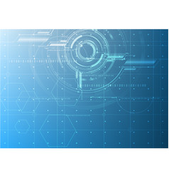Abstract technological future blueprint drawing vector