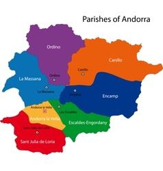 Andorra map vector