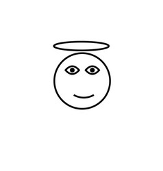 angel emotion icon vector image