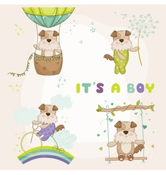 Baby Dog Set - for Baby Shower Card vector image vector image