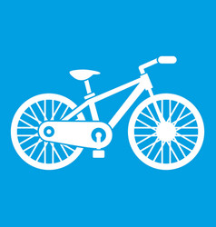 bicycle icon white vector image vector image