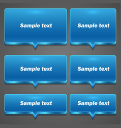 blue chat frame all sizes vector image