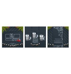 Christmas designs set vector