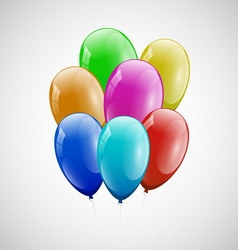 Colorful balloons with white background vector
