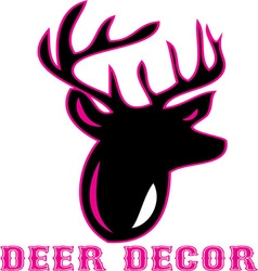 Deer decor vector