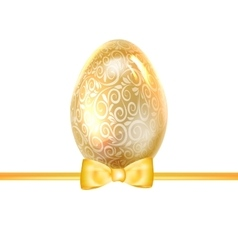 Easter poster gold egg vector