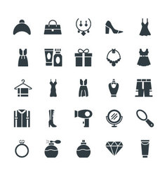 Fashion and Clothes Cool Icons 4 vector image
