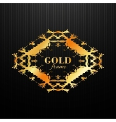 Gold ornament label vintage frame vector image vector image