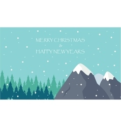 Happy new year and merry christmas winter scenery vector