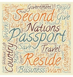 Is a second passport a second chance text vector