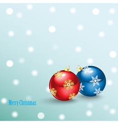 Merry christmas background with balls vector