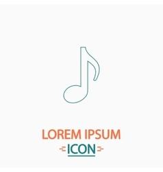 Music note computer symbol vector
