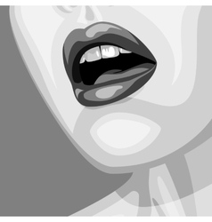Old-fashioned beauty woman face vector