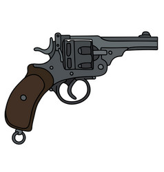 Old short revolver vector
