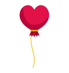 Pink heart balloon icon isolated vector