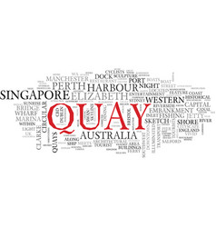 Quay word cloud concept vector