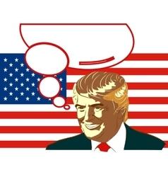 Republican presidential candidate donald trump vector
