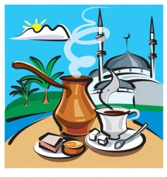 Turkish coffee vector image vector image